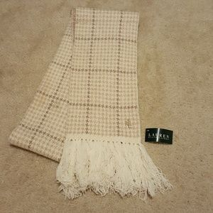 Ralph Lauren wool plaid scarf NEW